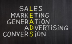 A sales and lead generation graphic